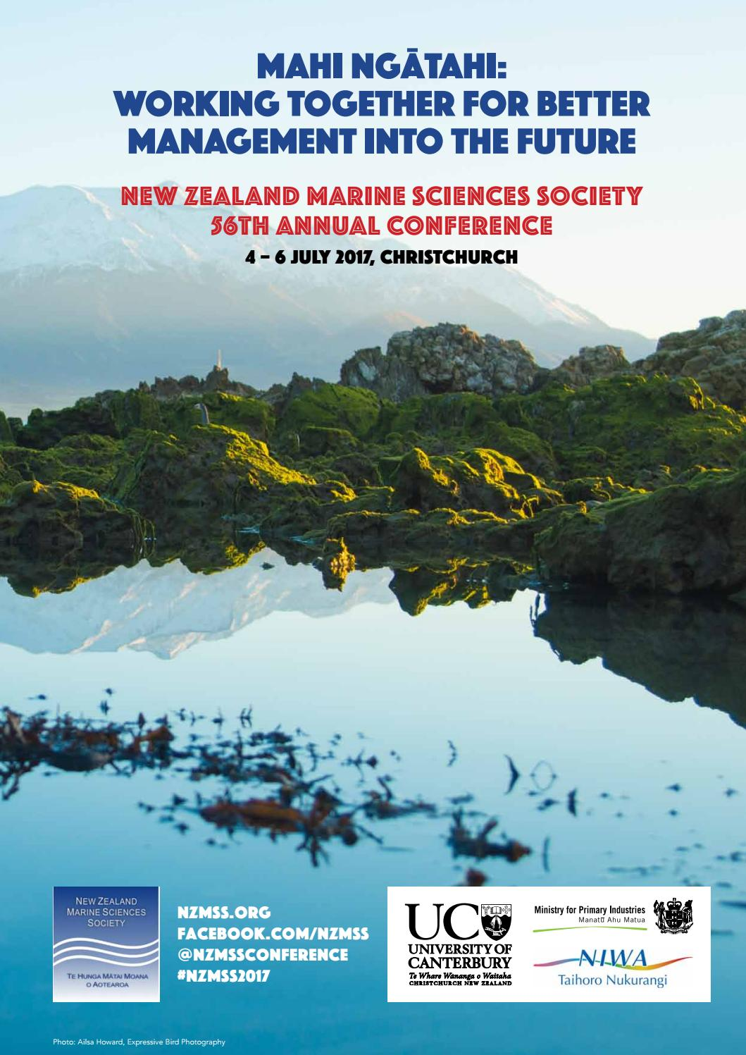 NZMSS 2017 Conference Handbook by South Events - issuu