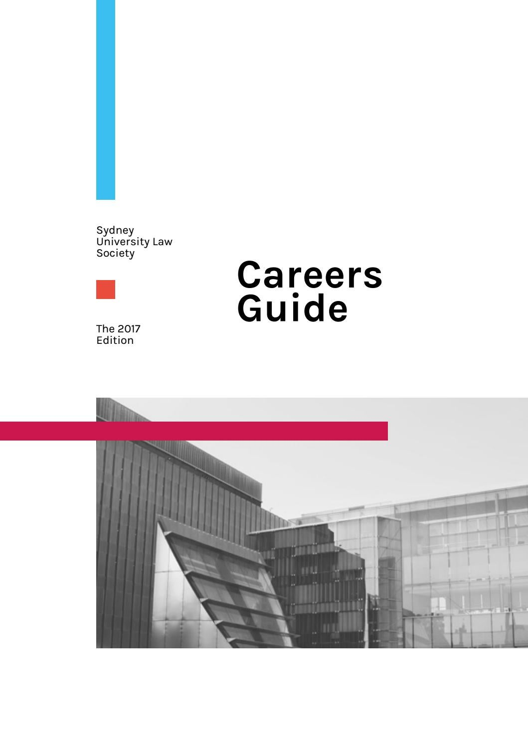 2017 Suls Careers Guide By Sydney University Law Society Issuu