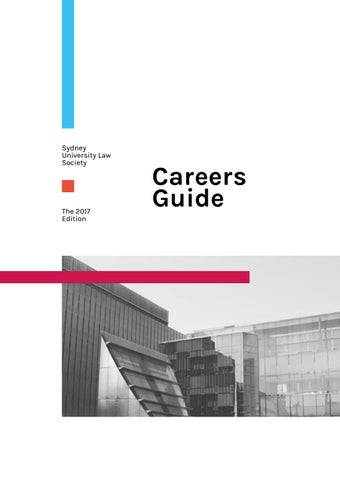 2017 SULS Careers Guide By Sydney University Law Society