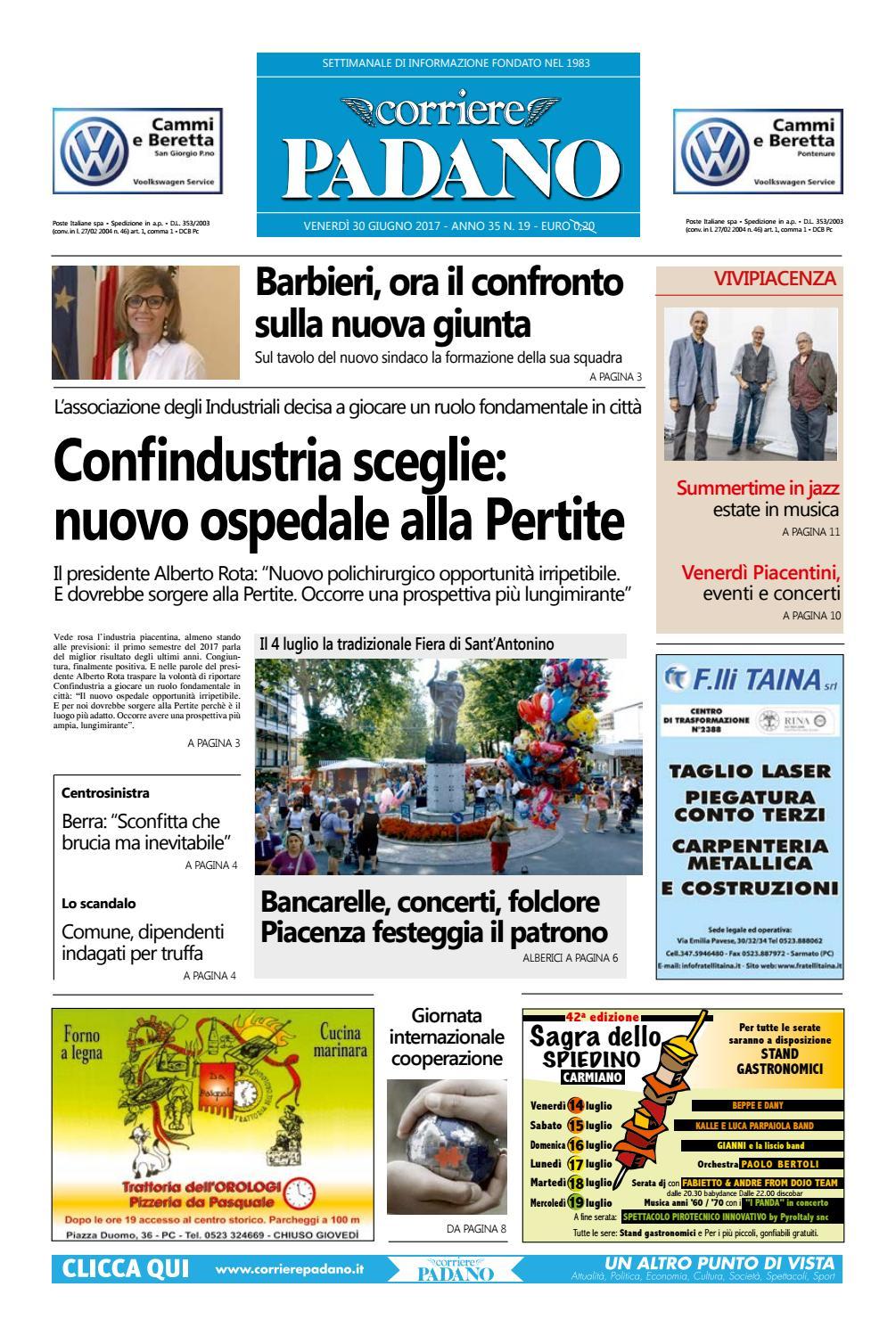 Corriere Padano 19 30 06 2017 By Corriere Padano Issuu