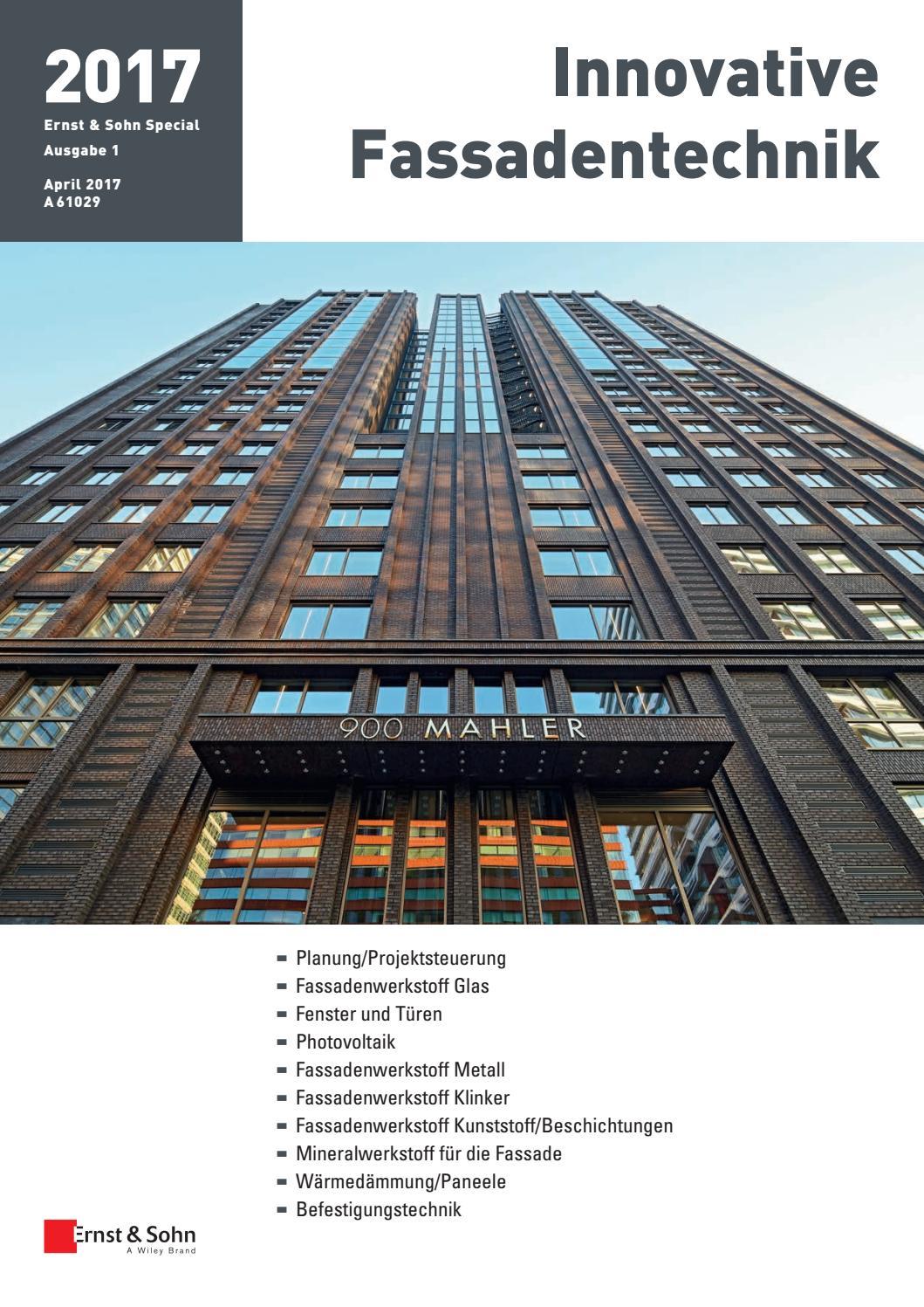 Ernst U0026 Sohn Sonderheft Innovative Fassadentechnik 1/17 By Ernst U0026 Sohn    Issuu