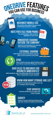 OneDrive Features You Can Use For Business by House of IT