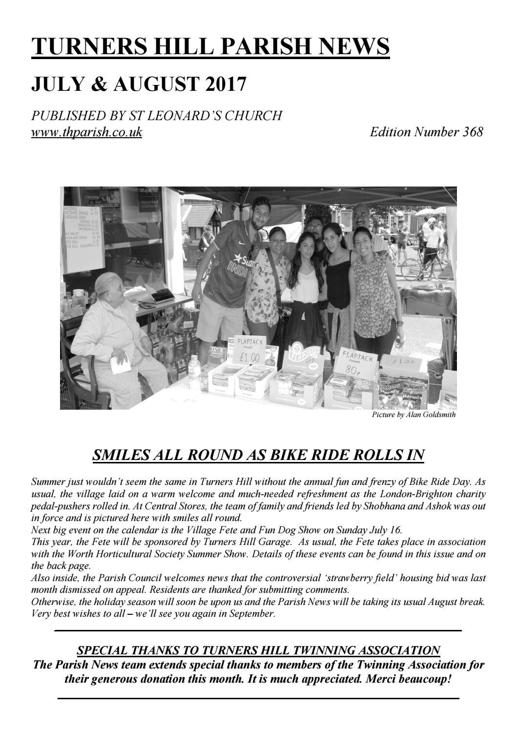 Parish News Summer 2017 By St Leonards Turners Hill