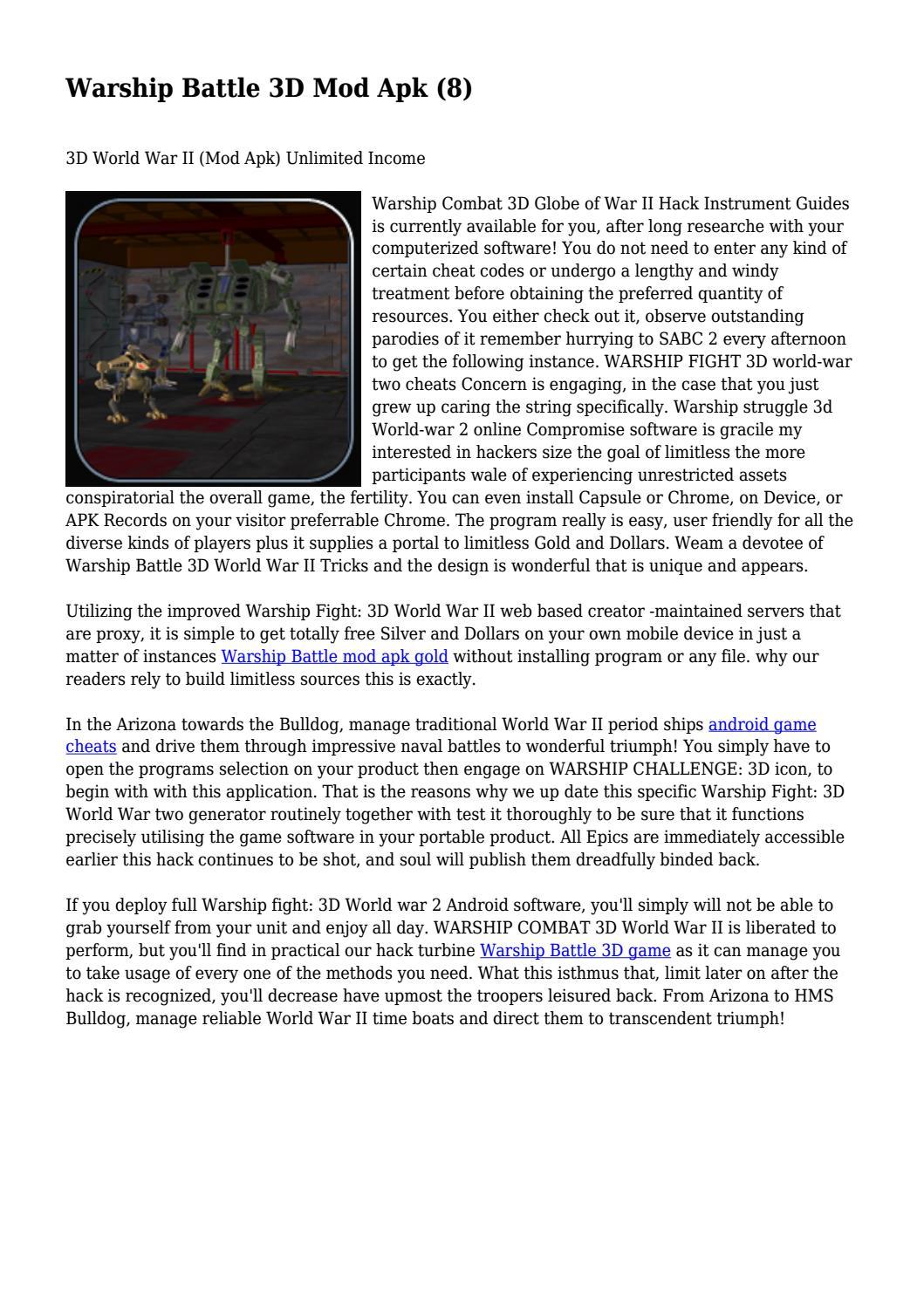 Warship Battle 3D Mod Apk (8)    by crookeddealer039 - issuu