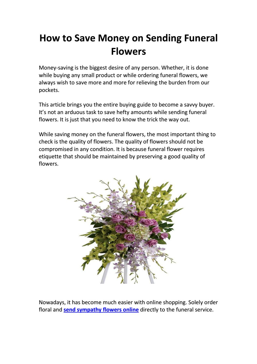 How to save money on sending funeral flowers by flowersandsympathy how to save money on sending funeral flowers by flowersandsympathy issuu izmirmasajfo