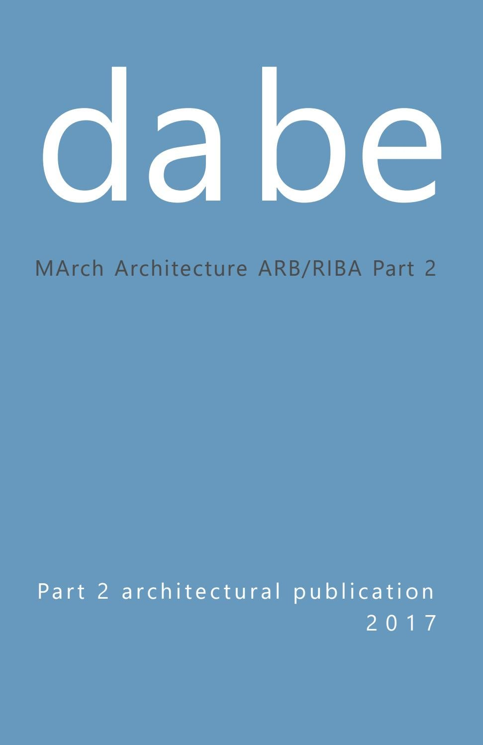 DABE Part 2 Architecture Catalogue 2017 By