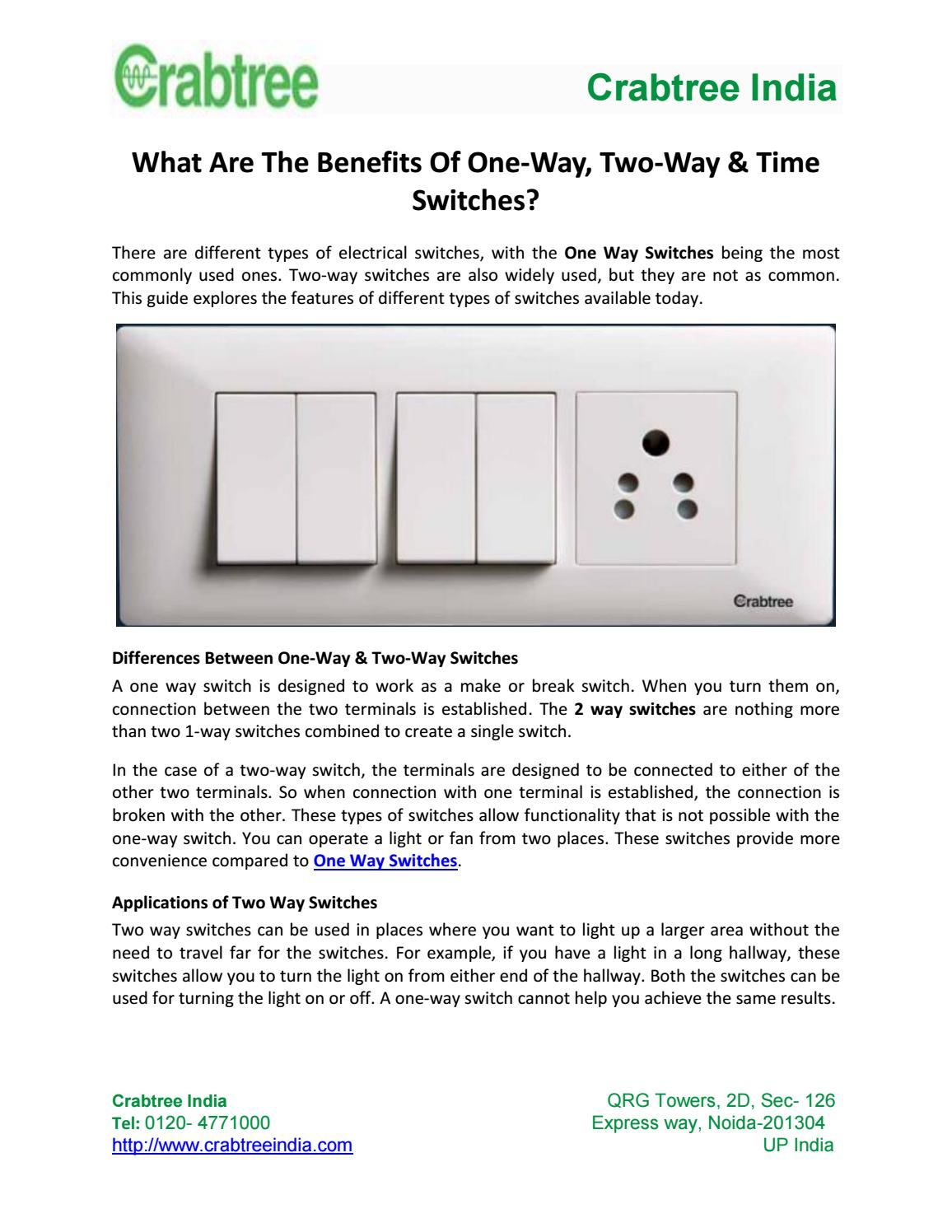 What are the benefits of one way, two way & time switches by Nancy ...