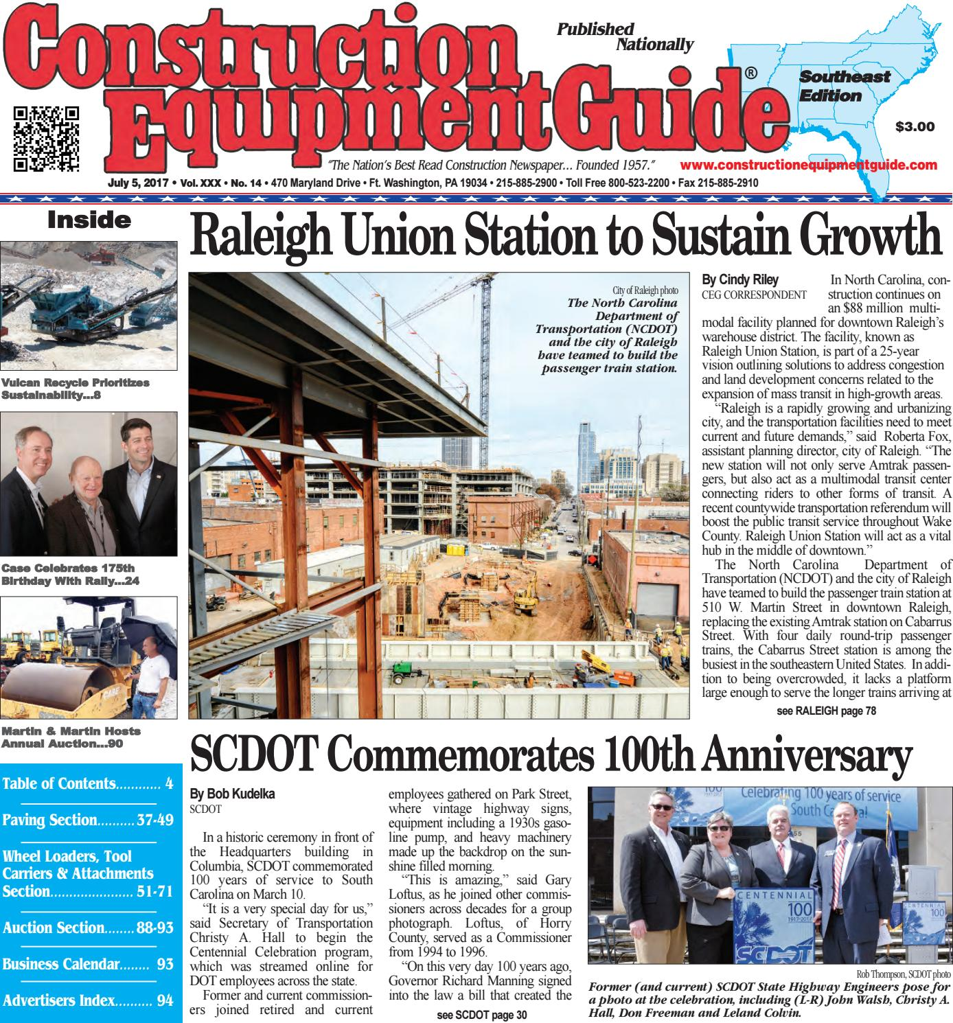 Southeast 14, July 5, 2017 by Construction Equipment Guide