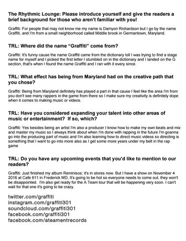 Trl magazine june 2017 by the rhythmic lounge issuu the rhythmic lounge please introduce yourself and give the readers a brief background for those who arent familiar with you graffiti for people that may solutioingenieria Images