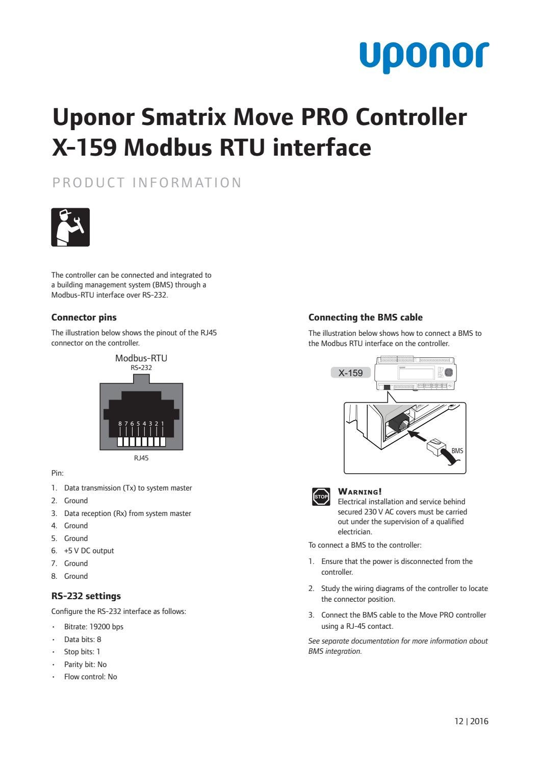 uponor product info smatrix move pro modbus rtu en 1088472 12 2016 by  uponor international - issuu