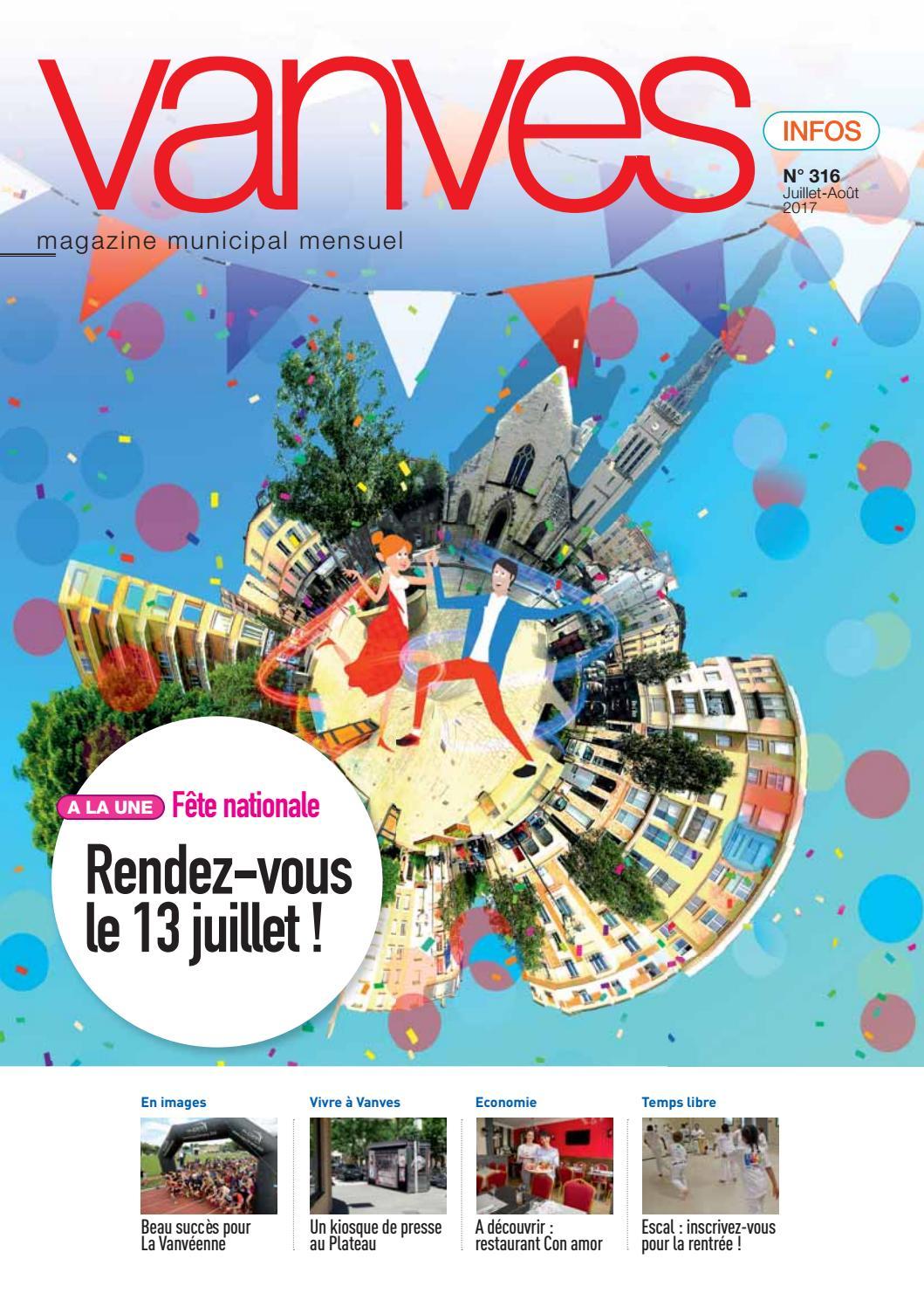 Vanves infos des mois de juillet ao t 2017 by mairie de for Piscine vanves