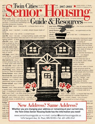 2017 18 Twin Cities Senior Housing Guide By Senior Housing Guide Issuu
