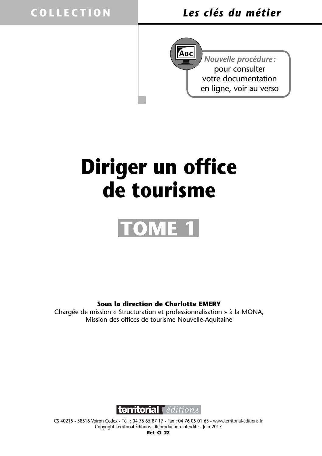 Diriger un office de tourisme by infopro digital issuu - Office de tourisme voiron ...