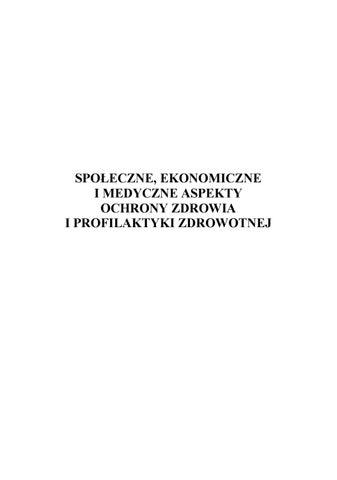 Wdrażanie Funduszy Strukturalnych W Sektor Ochrony Zdrowia W Polsce