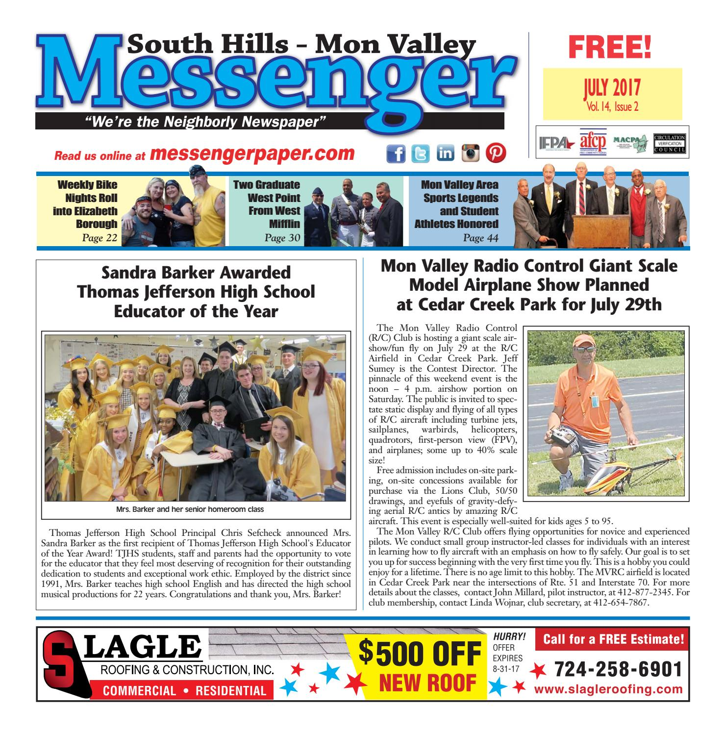 South Hills Mon Valley Messenger July 2017 by South Hills