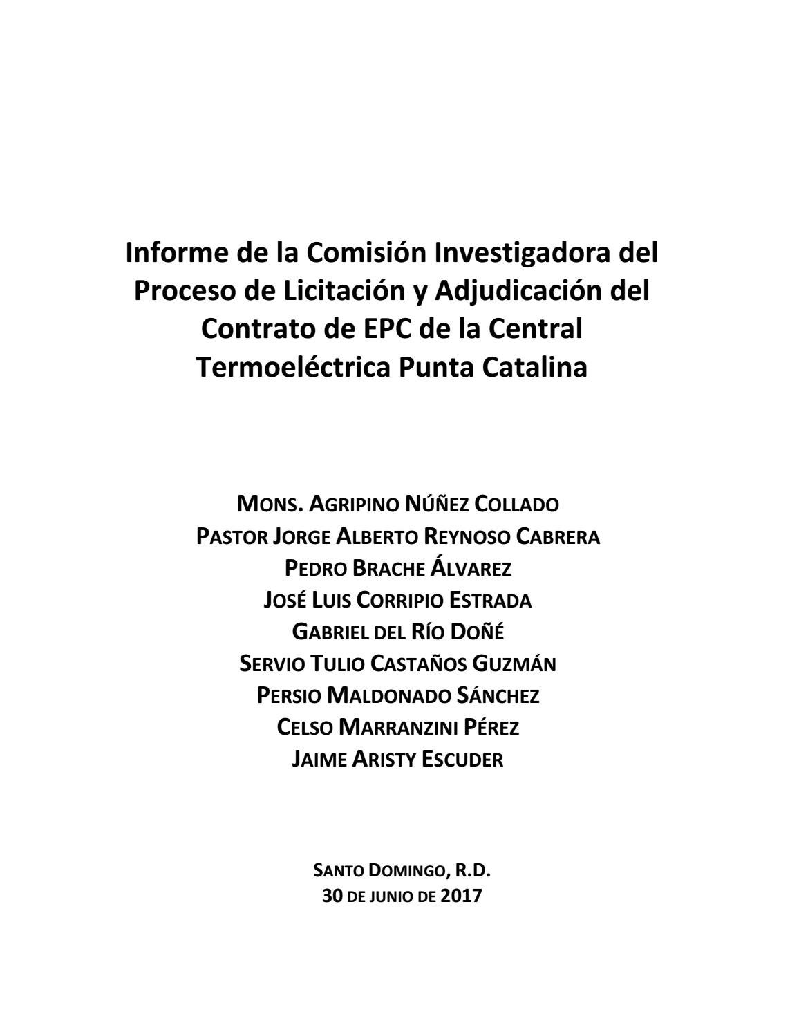 Informe sobre Punta Catalina by Periódico elDinero - issuu