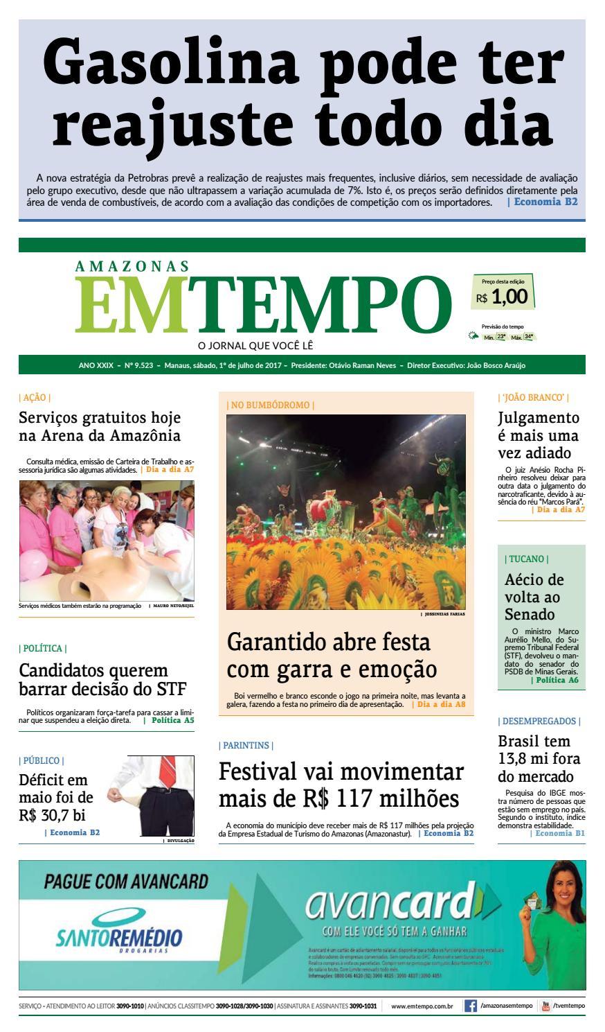 99c9716281 EM TEMPO - 1º de julho de 2017 by Amazonas Em Tempo - issuu