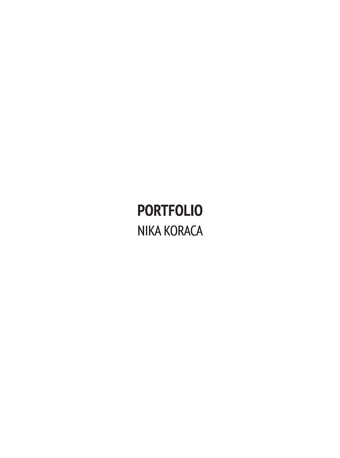 Retrato Humano marxismo  Architecture Portfolio 2017 by nika koraca - issuu