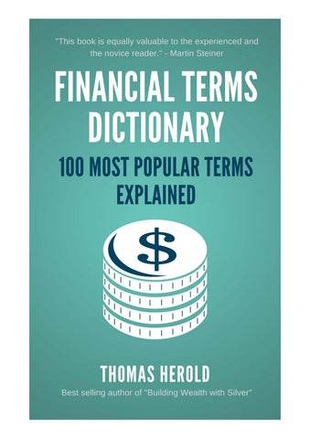 Financial dictionary the 100 most popular financial terms financial terms dictionary standard edition the 100 most popular financial terms explained fandeluxe Gallery