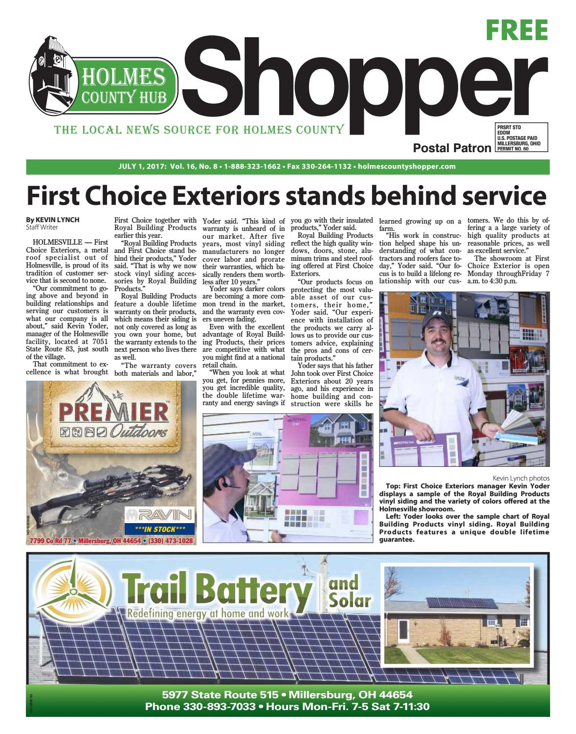 Holmes County Hub Shopper, July 1, 2017 by GateHouse Media ... on