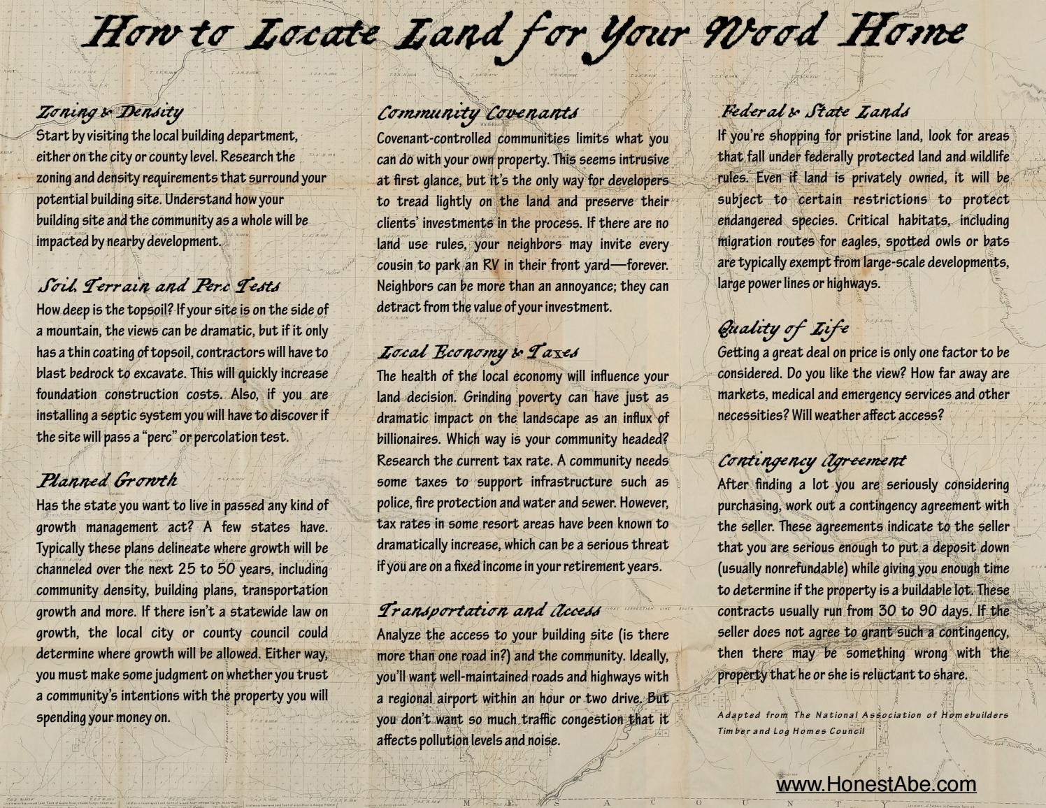 How to Locate Land by Honest Abe Log Homes - issuu