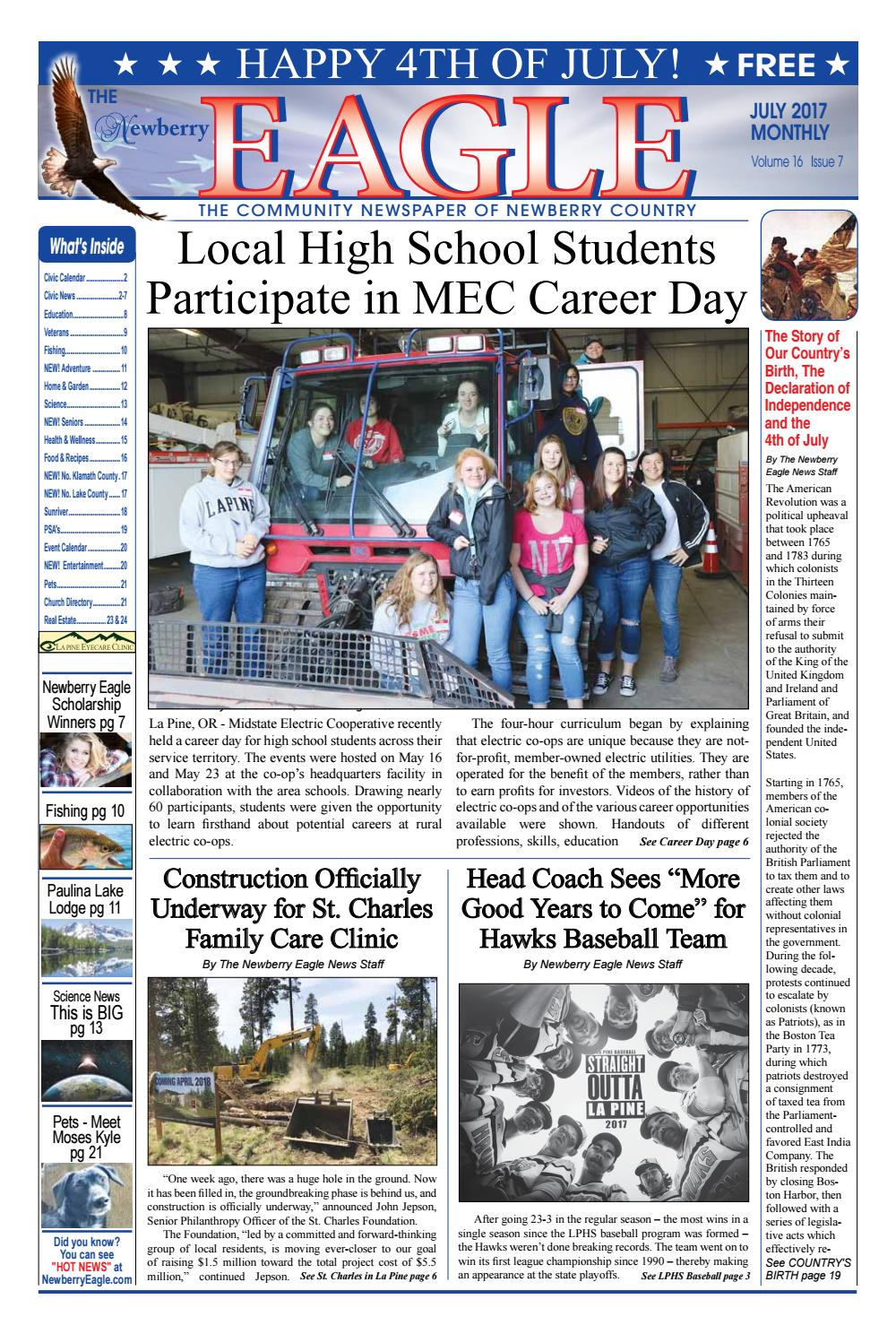 Newberry eagle 2017 07 for website by The Newberry Eagle and Eagle Highway Magazine - issuu