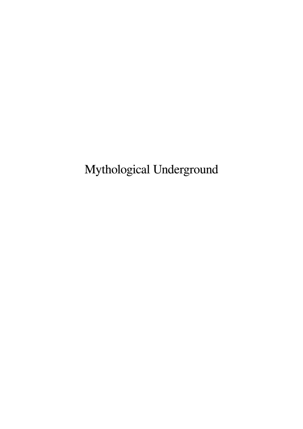 Mythological Underground 2 By Procedural Issuu
