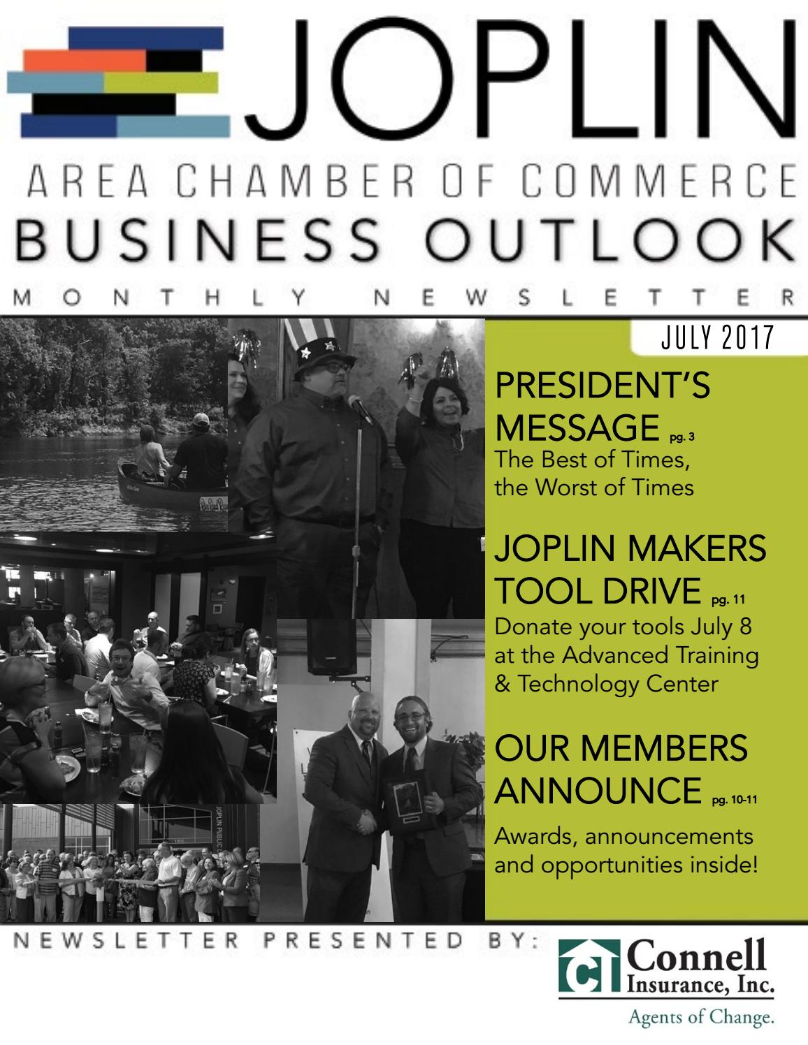 July 2017 Business Outlook By Joplin Area Chamber Of Commerce Issuu
