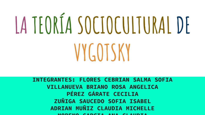 La Teoria Sociocultural De Vygotski By Sam Issuu