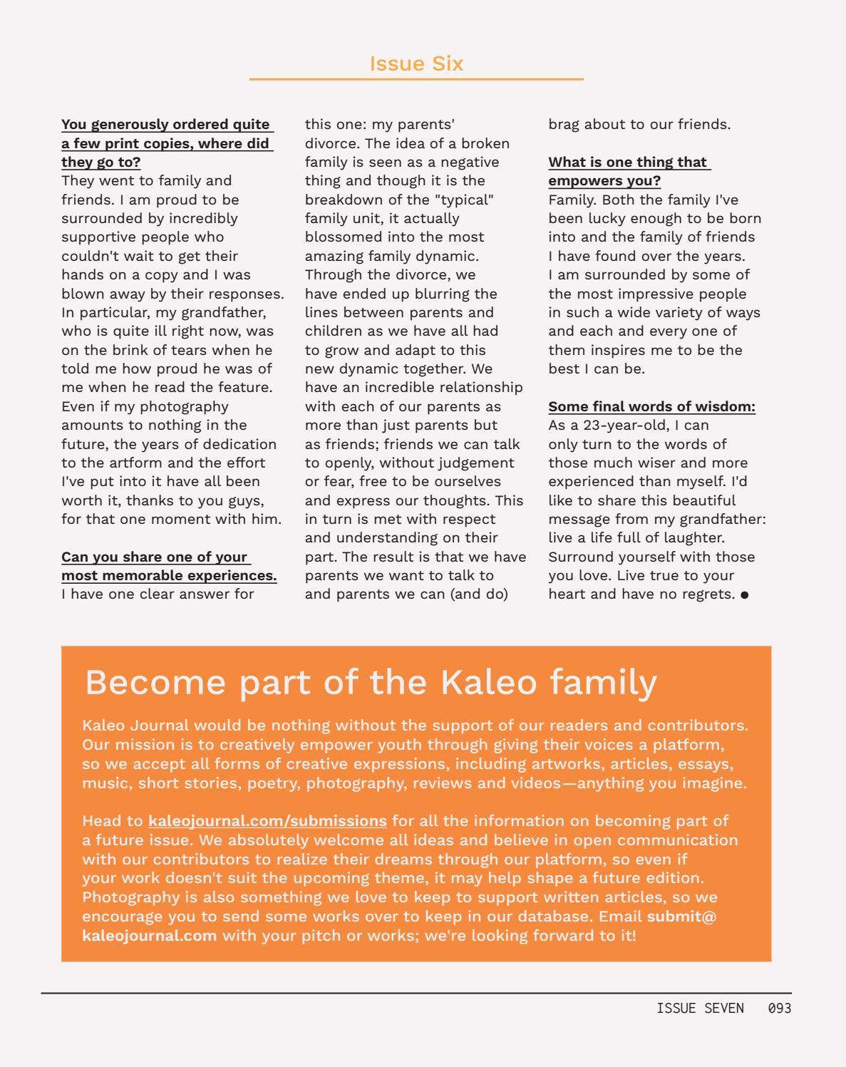 Kaleo Journal Issue 007 by Kaleo Journal - issuu