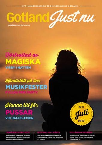 Gotland ler lyckligt i kvallssolen