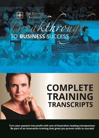 Ultimate success transcripts by the coaching institute issuu copyright the coaching institute 2015 all rights reserved v1 august 15 fandeluxe Choice Image