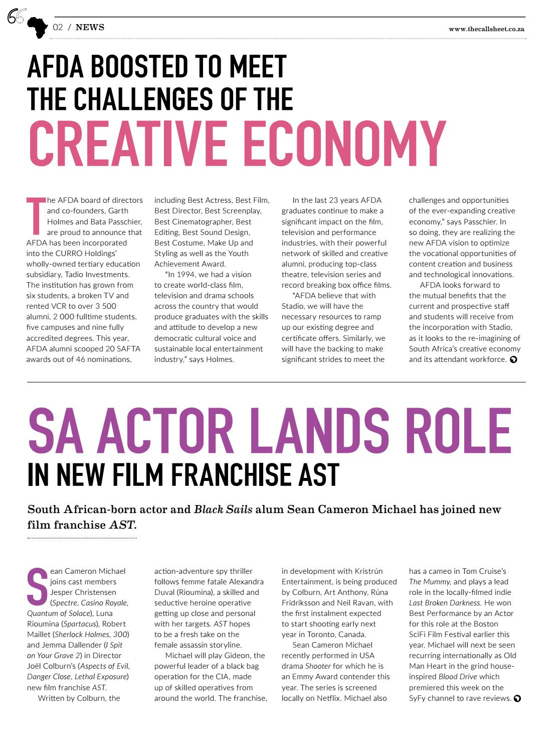 The Callsheet Issue 7 by Film & Event Media - issuu