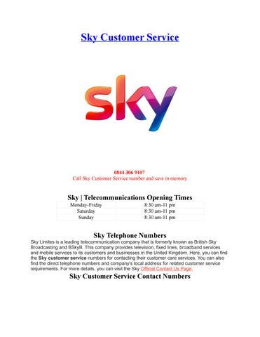 Sky Customer Service By Phone Number Customer Service Issuu