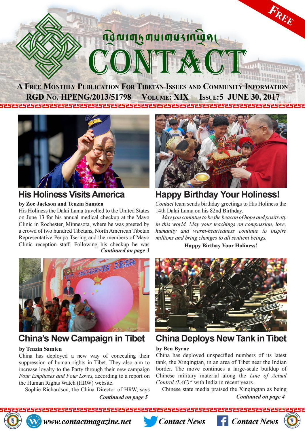 Contact June 2017 issue by Lha Charitable Trust - issuu