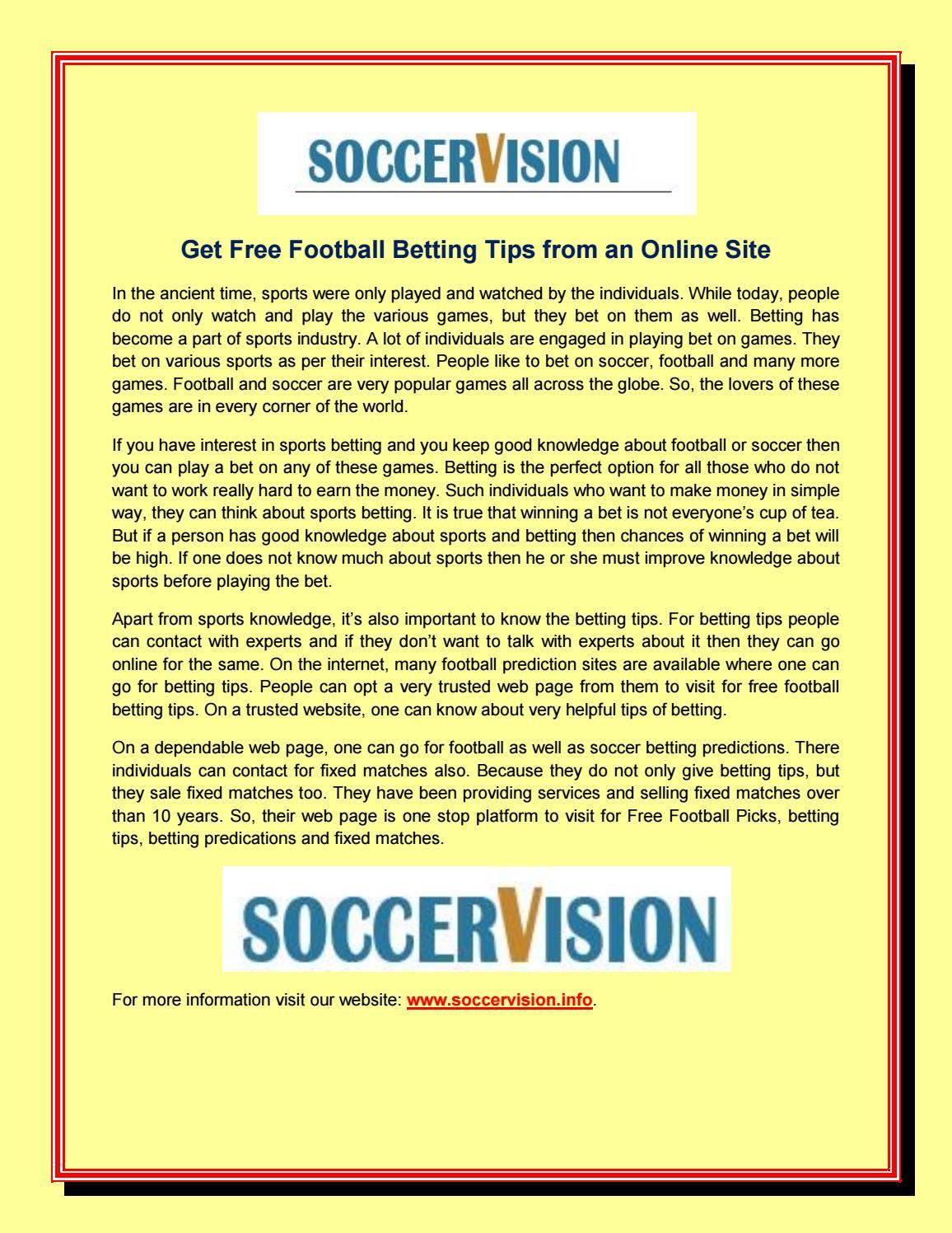 soccer betting tips website