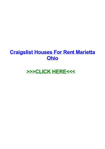 Craigslist houses for rent marietta ohio by Pearl Castaneda - issuu