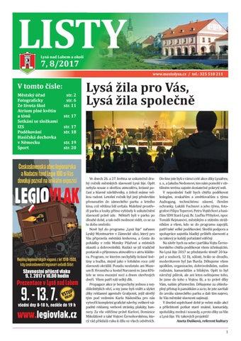26af7131a0 Listy 07-08   2017 by Město Lysá nad Labem - issuu
