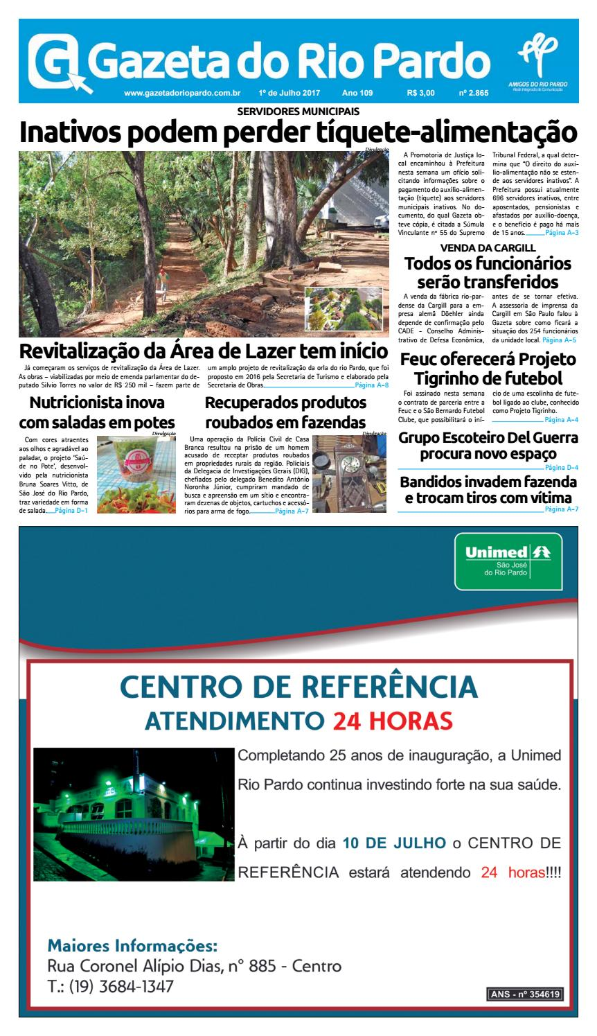e76afa70956 2017-07-01 - Gazeta do Rio Pardo by Gazeta do rio Pardo - issuu