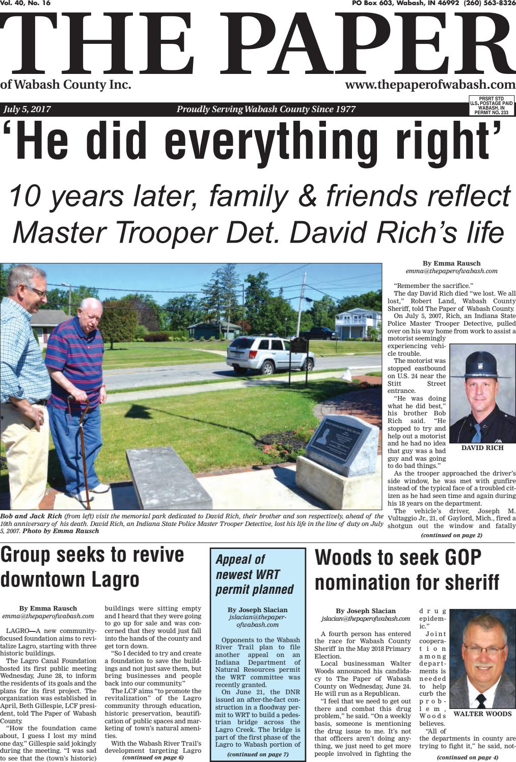 The Paper of Wabash County - July 5, 2017, Issue by The Paper of ...