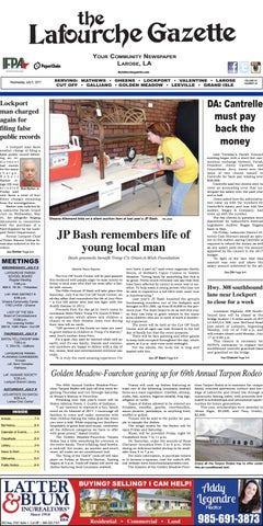 Wednesday, July 5, 2017 The Lafourche Gazette by The Lafourche