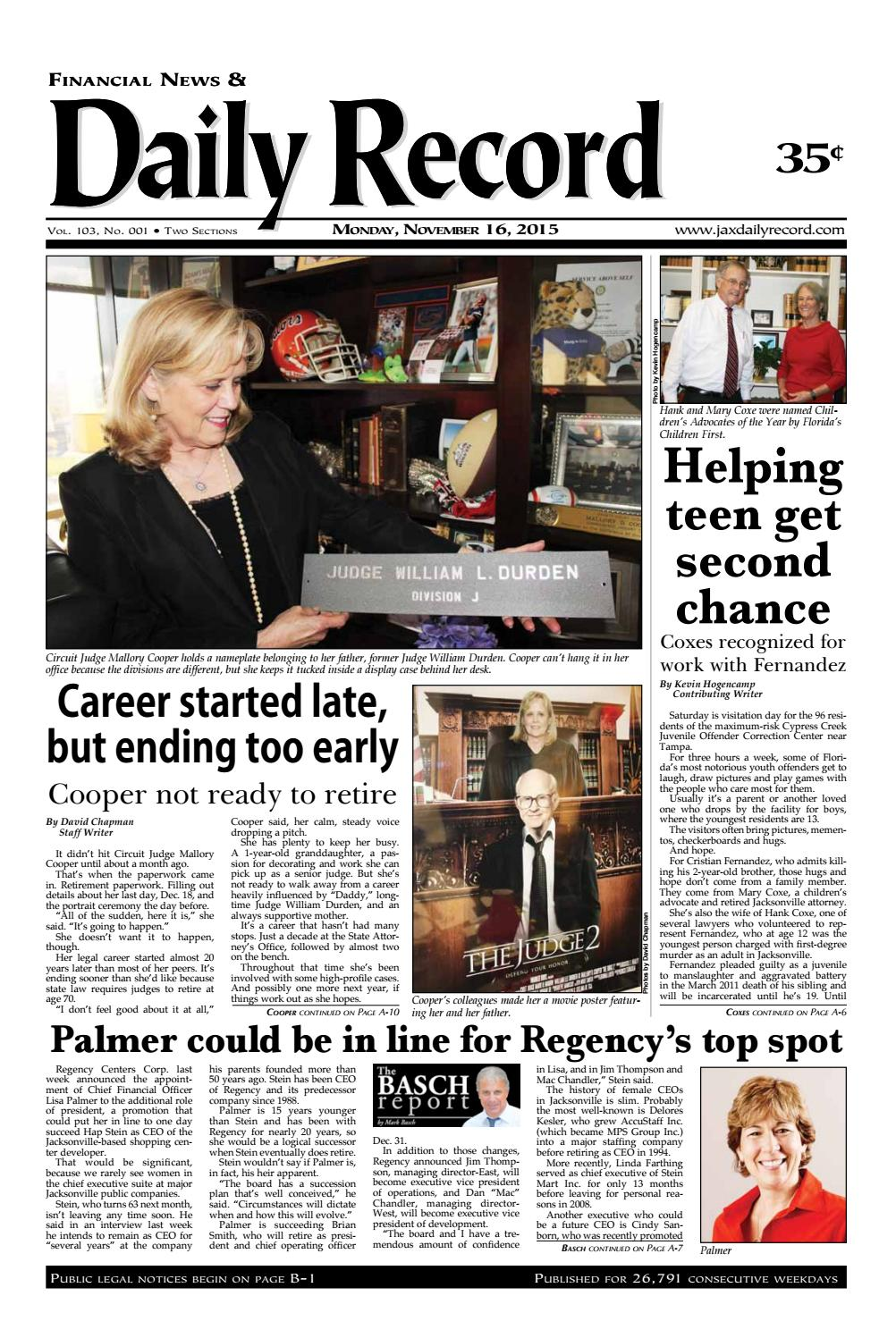 20151116 by Daily Record   Observer LLC - issuu 1419e60a6