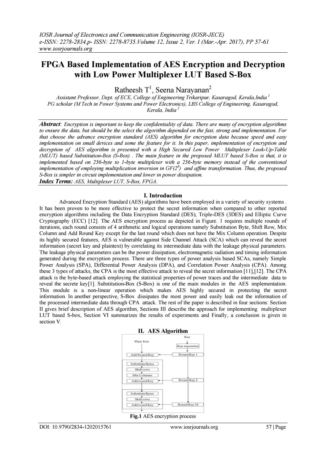 Fpga Based Implementation Of Aes Encryption And Decryption With Low Project Navigator Let Us Start A Block Diagram Multiplexer Power Lut S Bo By Iosrjece Issuu