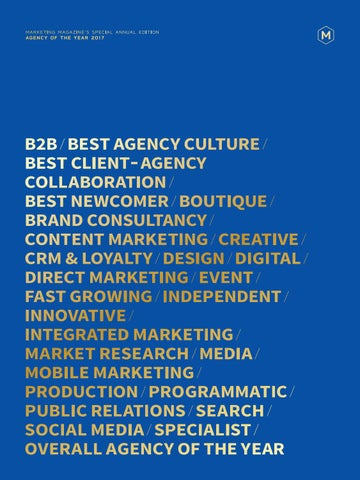 9afb5833ee9 MARKETING AGENCY OF THE YEAR SPECIAL ANNUAL EDITION 2017