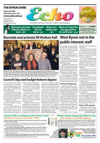 4124a74fff448d Byron Shire Echo – Issue 32.04 – 05 07 2017 by Echo Publications - issuu