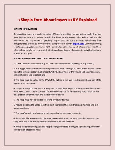 5 simple facts about import us rv explained schaubglobal by schaub