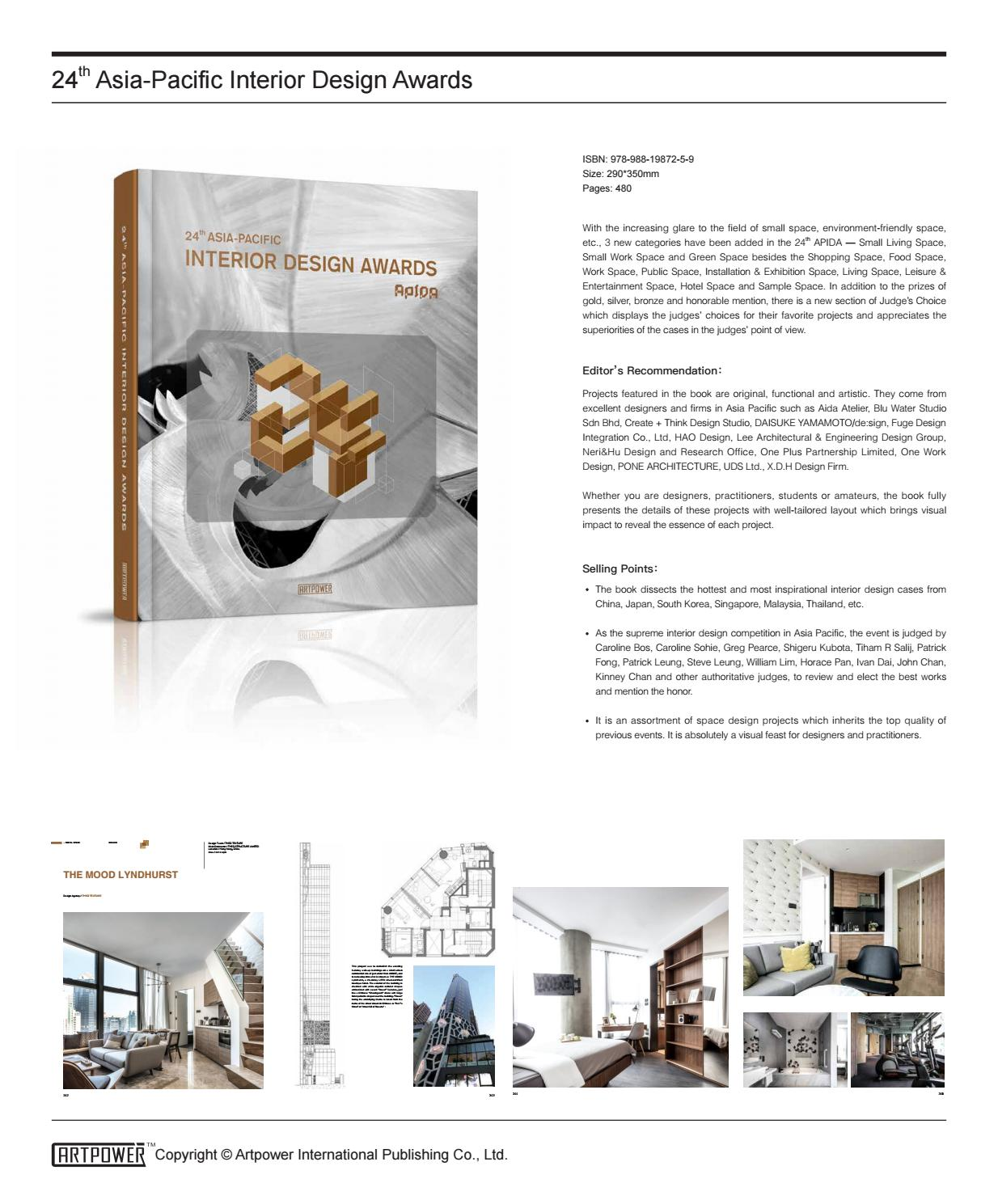 24th Asia Pacific Interior Design Awards By Artpower Publishing