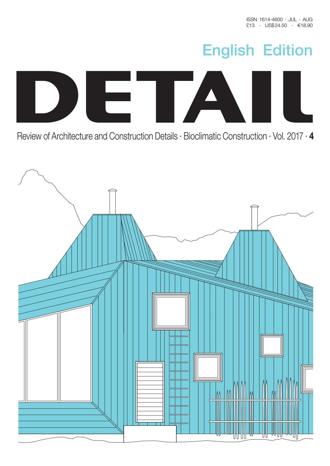 Delightful DETAIL English 4/2017   Bioclimatic Construction By DETAIL   Issuu