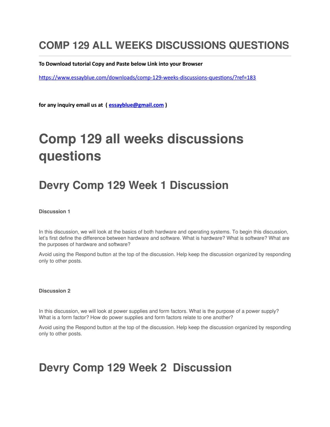 Comp 129 All Weeks Discussions Questions By Carolynmalone Issuu At Power Supply Form Factor