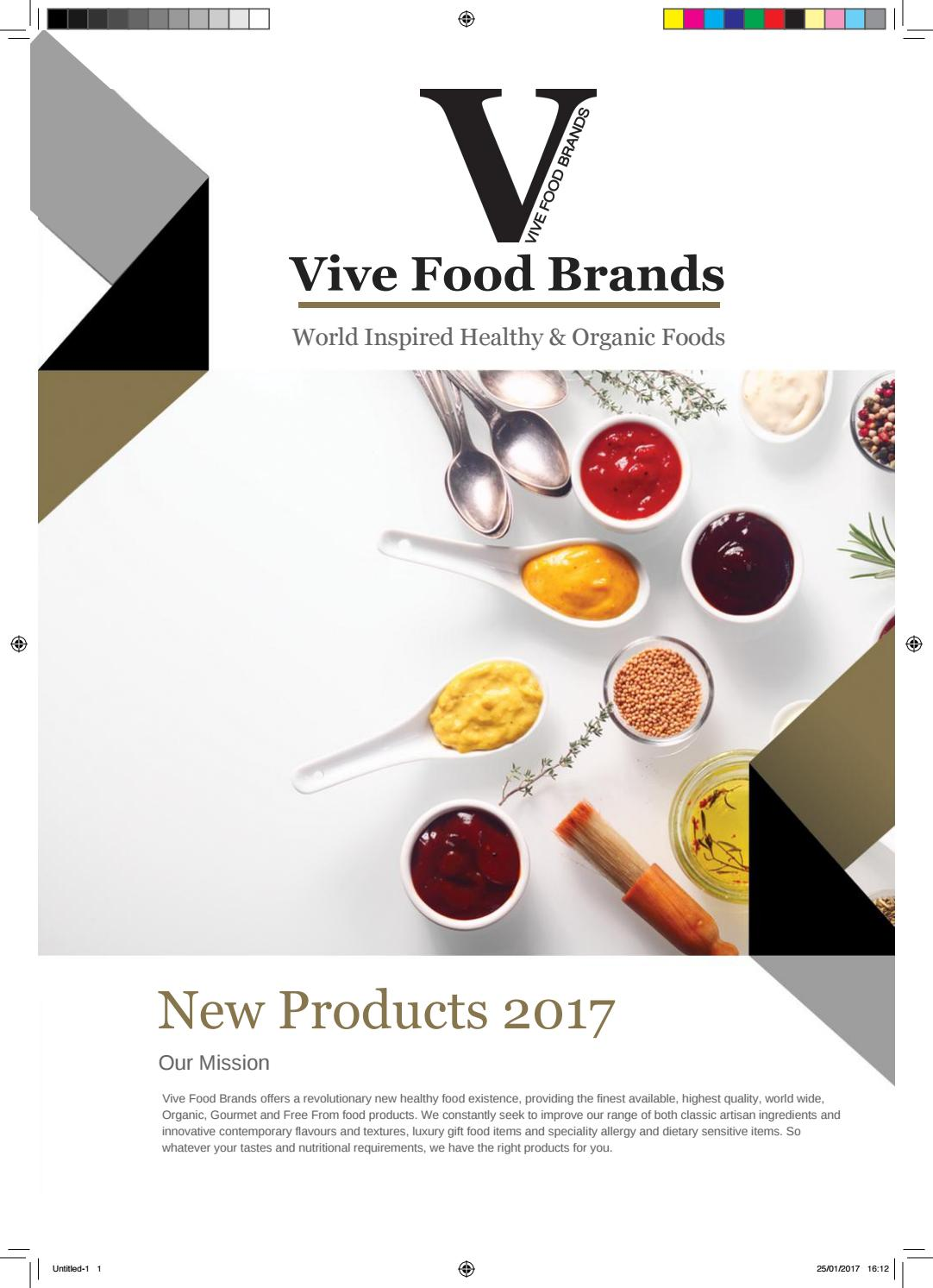 VIVE FOOD BRANDS NEW PRODUCTS by Healthy Foods Online - issuu